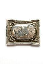 Antique Victorian 925 Sterling Silver BIRD PIN BROOCH 6.8g