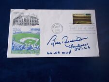 JUNE 27,2001 BOBBY RICHARDSON AUTOGRAPHED ON FIRST DAY COVER