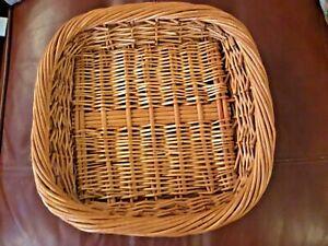 Wicker basket Storage/ Tray - square 25 cms approx, 6cms deep