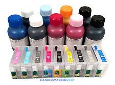 Recharge Cartouches rechargeables + encre pour Epson SURECOLOR P 600 76 XL pas