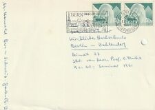 1961 Switzerland/Helvetia card sent from Bern to Berlin Germany