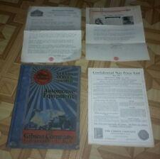 1919 Gibson Automobile Car Parts Tools Repair Catalog Book automotive PRICE LIST