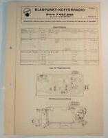 Blaupunkt Kofferradio Dixie 7657200 Alltransistor Schaltplan Schaltbild B6682