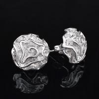 Fashion Womens 925 Sterling Silver Plated Rose Flower Ear Stud Earring Jewelry