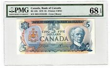 Canada $5 Dollars Banknote 1979 BC-53b PMG Superb GEM UNC 68 EPQ - Perfect Note