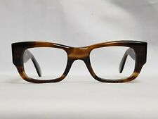 Vintage mens Amber frames Asdor senator glasses Eyeglasses thick Square frame