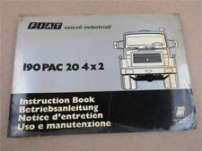 Fiat 190 PAC 20 4x2 Bedienungsanleitung Betrieb Wartung Instruction Book 1977