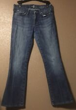 """7 for All Mankind Jeans Women's Sz 27 """"A"""" Pocket Med Distressed Wash"""