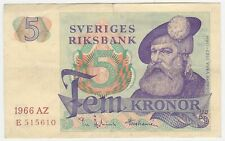 Sweden P 51 a - 5 Kronor 1966 - Fine+