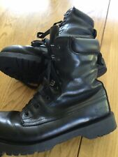 Doc Martens Unisex Warner Soft Black Leather Paratrooper Boots Uk7/41 7 Eyelets