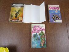 Almuric por Robert E Howard Libro en Rústica VG Conan Almuric + Plegable Póster