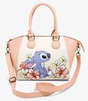 Disney Loungefly Lilo And Stitch Scrump Tropical Flowers Satchel Shoulder Bag