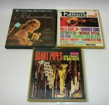 12 String Guitar The Folkswingers Giant Pipes Rhapsodies Reel to Reel Tape Lot