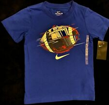 *New W/Tags* The Nike Tee Boys Football Graphic Athletic Cut T Shirt Blue-Size 7