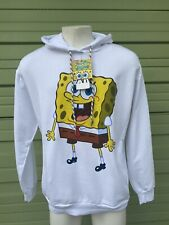 NWT Zara Men White SPONGEBOB HOODED SWEATSHIRT SIDE Pockets NEW Size XL  1755XL