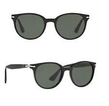 NEW PERSOL sunglasses PO3151S 95/31 49mm Black Round Italy 3151 glass unisex men