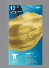 pk48106:Stamps-Canada #BK424 Olympics Canada First Gold 10 x 57 ct Booklet-MNH