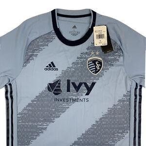 Adidas Sporting Kansas City MLS Aeroready Authentic Jersey Mens Large GE5922 NWT