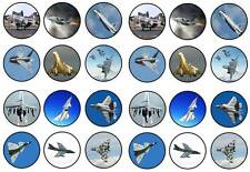 24  delta wing fighters concord vulcan  toppers birthdays party edible paper