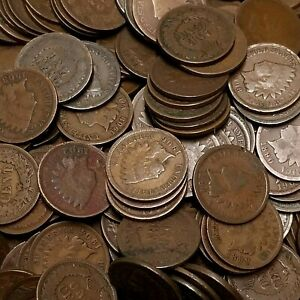 Indian Head Penny Roll 1859-1909 (50) Fifty Indian Head Cents Average Circulated