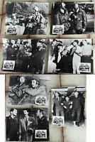 7 Original Aushangfotos Schrecken der Division Jerry Lewis Dean Martin s/w