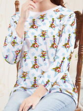 Hüftlange 3/4 Arm Damen-T-Shirts in Stern-Schliffform