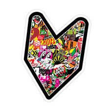 JDM WAKABA LEAF STICKER BOMB JDM Sticker Decal Car  #1564K