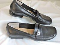 Anne Klein Womens Shoes Low Heel 6M Mamollie Black Loafers Slip On Work Career