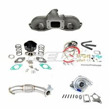 FITS 240SX S13 S14 SR20 T3T4 GT35 TOP MOUNT MANIFOLD TURBO CHARGER SET UP KIT