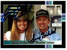 NASCAR Carolyn & Gary Bechtel autographed card
