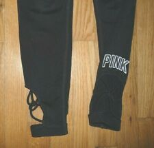 Victorias Secret PINK ULTIMATE black signature leggings stretch pants Size xs