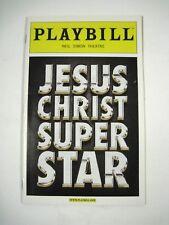 Jesus Christ Superstar Playbill 2012 Neil Simon Theatre Ticket Paul Nolan Young