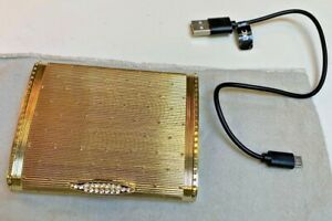 Classy Gold Plated~OH~Super fancy~Jeweled portable iPhone charger with cable