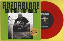 """RAZORBLADE - SHITTING OUT NAILS - 7"""" EP (red vinyl)"""