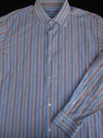 Banana Republic Mens Button Front Long Sleeve Stripe Cotton Shirt Large L