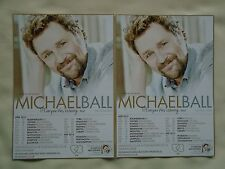 """MICHAEL BALL Live """"If Everyone was Listening"""" 2015 UK Tour Promo tour flyers x 2"""