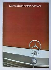 Early 1980's Mercedes Benz Standard and Metallic Paintwork Colors Brochure