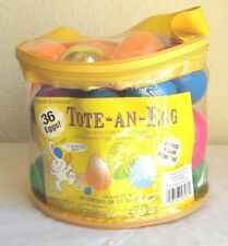 New Easter Unlimited Tote-An-Egg 36 Plastic Easter Eggs Filled Zipper Bag  L8a