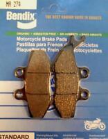 Pastilla de freno Bendix motorrad Yamaha 50 DTX 2004 à 2011 MA274 paire plaqu