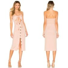 NWT $198 House of Harlow X Revolve Colette Strapless Button Front Midi Dress, XS
