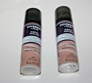 COVERGIRL + Olay Simply Ageless 3-in-1 Foundation #250 Creamy Beige Lot Of 2 New