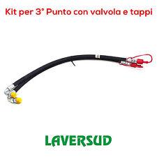 04559 Kit Tubi per 3° Terzo Punto Idraulico con Valvola Completo di Tappi