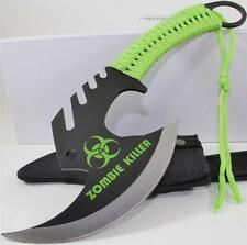 Zombie Killer Skull Splitter Throwing Axe Combat Fighter Survival Knife + Sheath