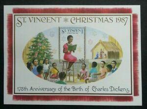 [SJ] St. Vincent Christmas 1987 Reading Story Children Teacher Tree (ms) MNH