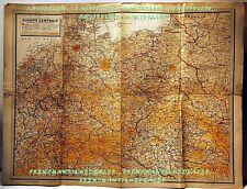 CARTE EUROPE CENTRALE ALLEMAGNE ETATS LIMITROPHES 1943