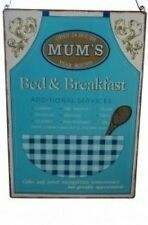 Mums Bed & Breakfast Metal Vintage Style Sign Fun Gift - Mothers Day Gift 2018