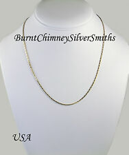 """14K Gold Overlay Box Chain 24"""" x 1.5mm Heavy Plated Made in USA"""