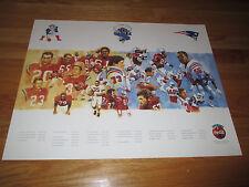 Los tiempos. equipo 35th Anniv Patriotas De Nueva Inglaterra Poster Gino  Cappelletti Jim Nance 982722ea5bf