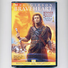Braveheart 1995 medieval war R movie, new Dvd Mel Gibson, England, Scotland