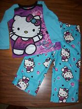 Girls HELLO KITTY 2-Pc Pajamas - Size 4 - NEW NWT MSRP $35  PURPLE & AQUA